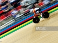 xxxxxx compete in the xxxxxx during day 5 of the UCI Track Cycling World Championships held at National Velodrome on February 22, 2015 in Paris, France.