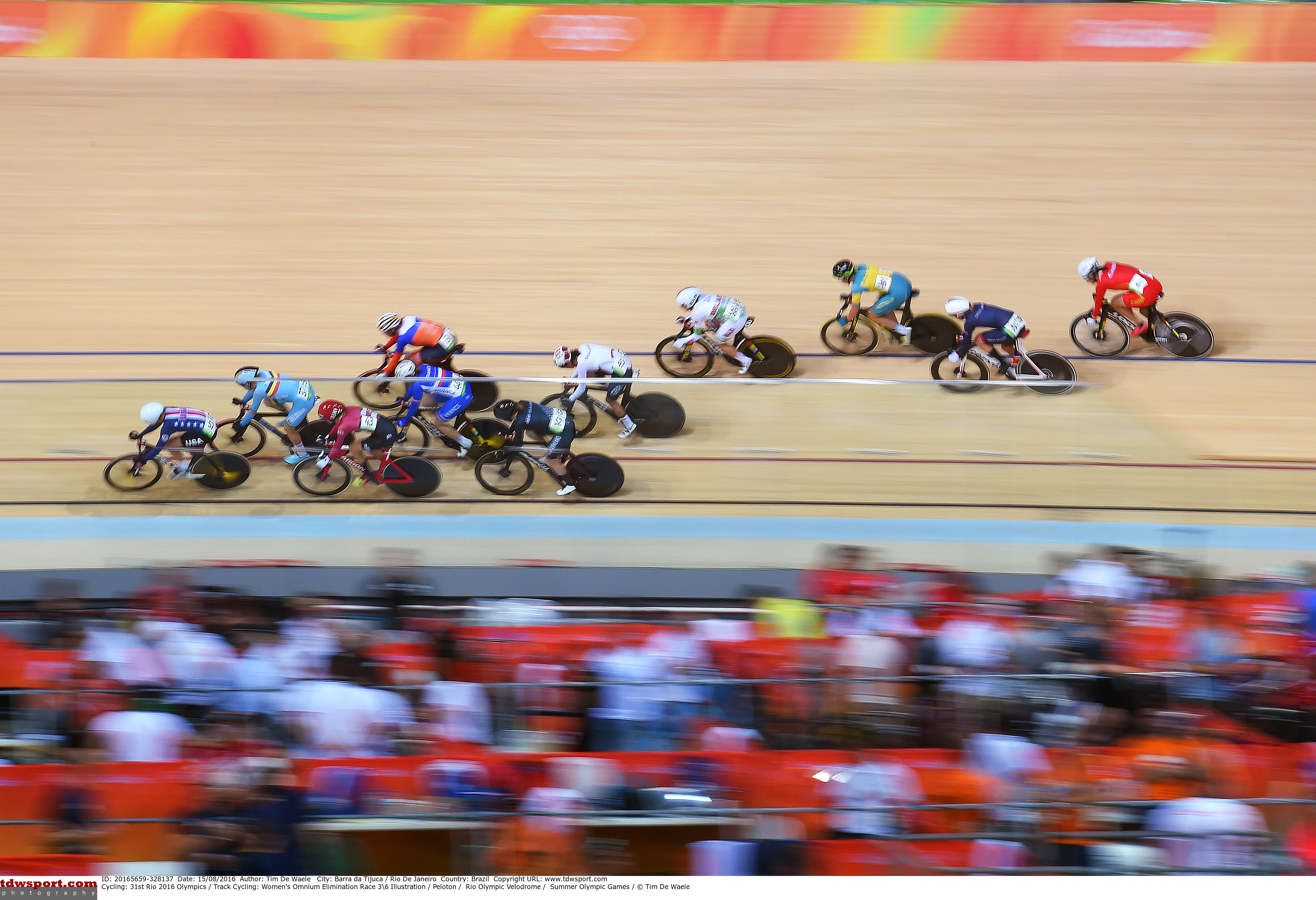 Cycling: 31st Rio 2016 Olympics / Track Cycling: Women's Omnium Elimination Race 36