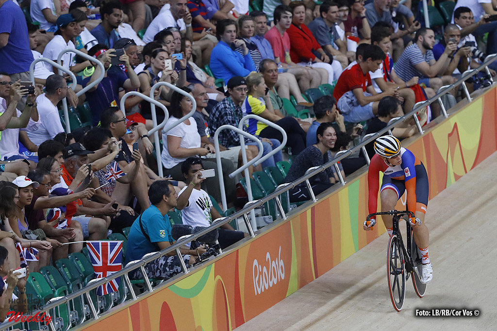 Rio de Janeiro - Brasil - wielrennen - cycling - radsport - cyclisme - Women's Omnium Scratch Race - 15/08/2016 - Kirsten Wild (Netherlands) pictured during track day-5 - Olympic Games 2016 in Rio - photo LB/RB/Cor Vos © 2016