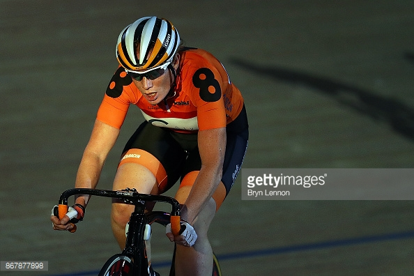 during day six of the London Six Day Race at the Lee Valley Velopark Velodrome on October 24, 2017 in London, England.